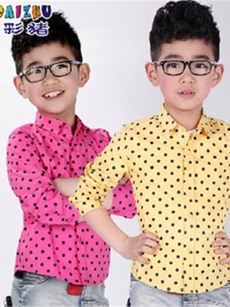 七彩猪童装产品图片